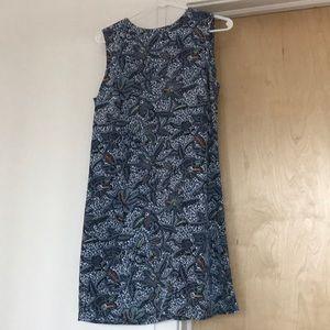 Tory Burch blue patterned mini dress